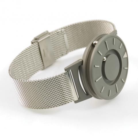 Reizen Tactile Watch with Stainless Steel Mesh Band