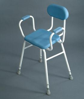 Pu Moulded Perching Stool With Padded Back And Padded Arms (Model 507 Pu)
