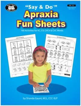 Say And Do Apraxia Fun Sheets