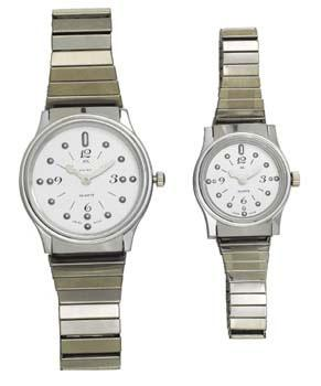 Seculus Braille Watch - Silver Face, Chrome Case (Models 71009 & 77009)