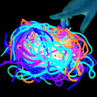 Glowing Rainbow Noodles