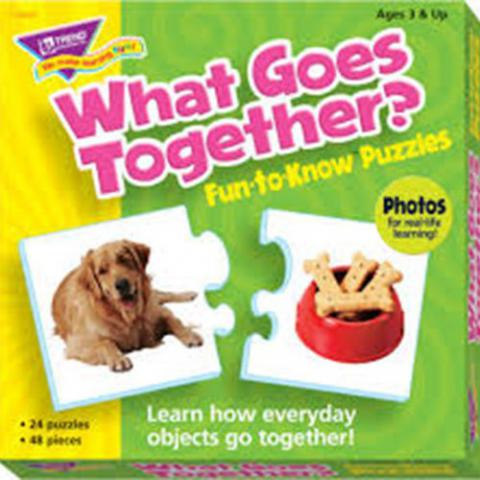 Trend Enterprises What Goes Together Puzzle Set